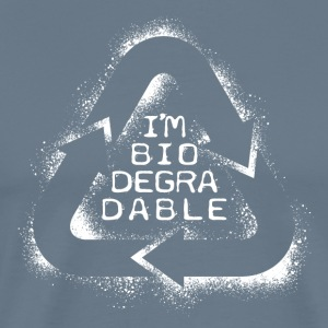 I'm Biodegradeble (white) T-Shirts - Men's Premium T-Shirt