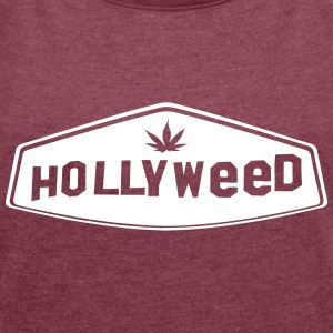 HOLLYWEED 1c T-Shirts - Women´s Roll Cuff T-Shirt