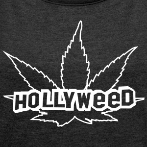 HOLLYWEED pot  T-Shirts - Women´s Roll Cuff T-Shirt
