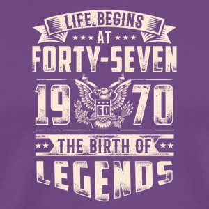 Life Begins At Forty Seven tshirt - Men's Premium T-Shirt