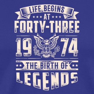 Life Begins At Forty Three Tshirt - Men's Premium T-Shirt