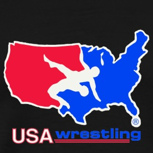 USA WRESTLING LOGO - Men's Premium T-Shirt