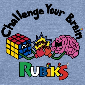 Rubik's Cube Challenge Your Brain - Unisex Tri-Blend T-Shirt by American Apparel