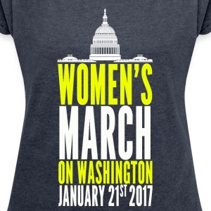 Million Women's March on Washington 2017 - Women´s Rolled Sleeve Boxy T-Shirt