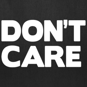 Don't care (dark) Bags & backpacks - Tote Bag