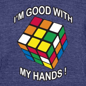 Rubik's Cube Good With My Hands - Unisex Tri-Blend T-Shirt by American Apparel