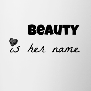 beauty is her name Mugs & Drinkware - Contrast Coffee Mug