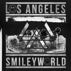 SmileyWorld Los Angeles Palm Trees - Men's Premium T-Shirt