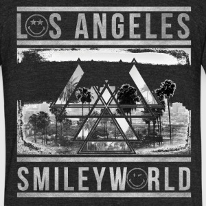 SmileyWorld Los Angeles Palm Trees - Unisex Tri-Blend T-Shirt by American Apparel