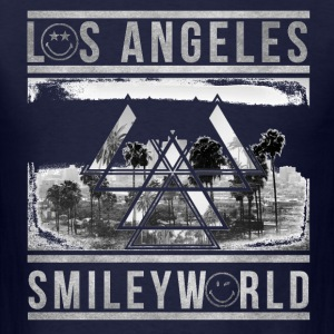 SmileyWorld Los Angeles Palm Trees - Men's T-Shirt