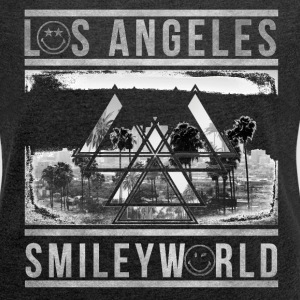 SmileyWorld Los Angeles Palm Trees - Women´s Roll Cuff T-Shirt