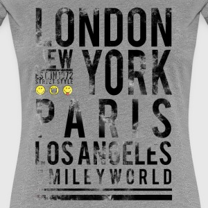 SmileyWorld Cities London NY Paris LA - Women's Premium T-Shirt