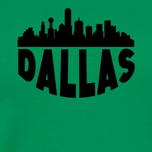 Dallas TX Cityscape Skyline - Men's Premium T-Shirt