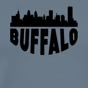 Buffalo NY Cityscape Skyline - Men's Premium T-Shirt