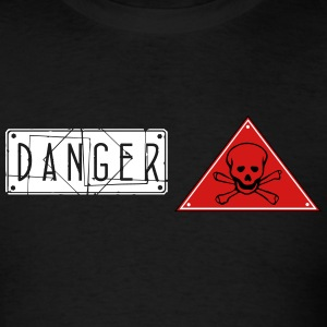danger skull_vec_3 us T-Shirts - Men's T-Shirt