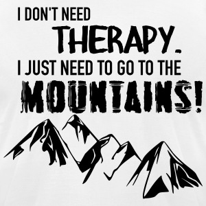 Therapy Mountains T-Shirts - Men's T-Shirt by American Apparel