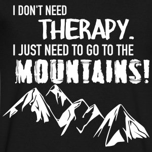 Therapy Mountains T-Shirts - Men's V-Neck T-Shirt by Canvas