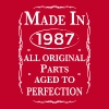 made in 1987 birthday T-Shirts - Women's Premium T-Shirt