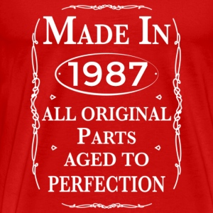 made in 1987 birthday T-Shirts - Men's Premium T-Shirt