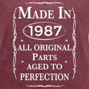 made in 1987 birthday T-Shirts - Women´s Rolled Sleeve Boxy T-Shirt