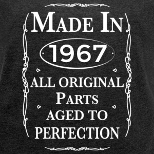 made in 1967 birthday T-Shirts - Women´s Rolled Sleeve Boxy T-Shirt