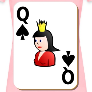 White deck: Queen of spades - Women's Premium T-Shirt