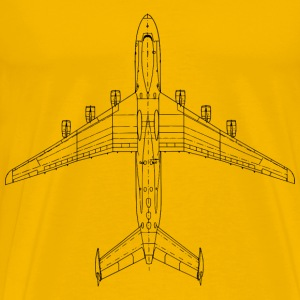 top view Antonov AN225 [Mria] - Men's Premium T-Shirt
