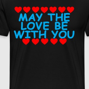 may_the_love_be_with_you_ - Men's Premium T-Shirt