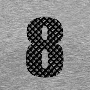 Lucky Number 8 with Lucky Chinese Character - Men's Premium T-Shirt