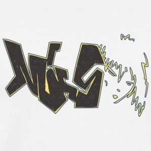 miss_graffiti_yellow_black - Men's Premium T-Shirt