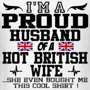 proud husband british 12.png T-Shirts - Men's T-Shirt