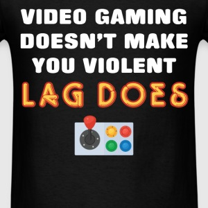 Video gaming - Video gaming doesn't make you viole - Men's T-Shirt