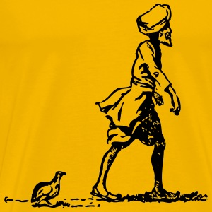 Sikh followed by partridge - Men's Premium T-Shirt
