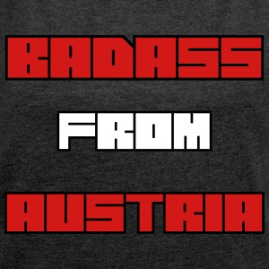badass from austria T-Shirts - Women´s Rolled Sleeve Boxy T-Shirt