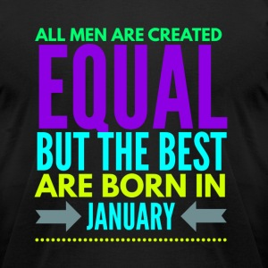 Birthday t-shirt born in january - Men's T-Shirt by American Apparel
