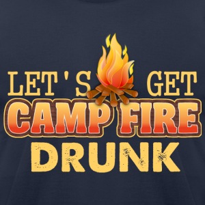 Campfire Drunk  - Men's T-Shirt by American Apparel