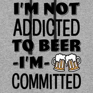I'm not addicted to beer, I'm Committed funny  - Colorblock Hoodie