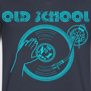 record player T-Shirts - Men's V-Neck T-Shirt by Canvas