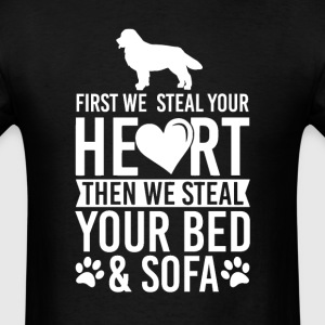 Bernese Mountain Dog Stole Heart Bed T-Shirt T-Shirts - Men's T-Shirt