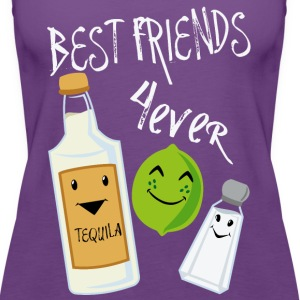 Best Friends Forever Tequila Lime Salt Humor - Women's Premium Tank Top