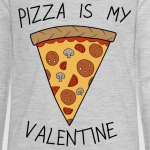 Anti Valentine's Day Pizza Funny Slogan - Kids' Premium Long Sleeve T-Shirt