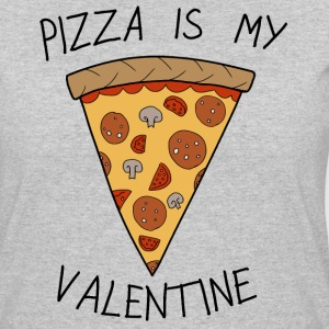 Anti Valentine's Day Pizza Funny Slogan - Women's 50/50 T-Shirt