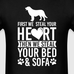 Flat Coated Retriever Dog Stole Heart Bed T-Shirt T-Shirts - Men's T-Shirt