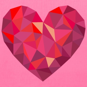 Valentine's Day Geometric Low Poly Heart - Tote Bag