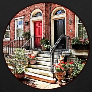 Philadelphia PA - Townhouse With Red Geraniums Sportswear - Men's Premium Tank