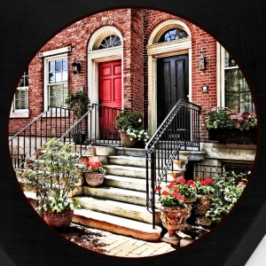 Philadelphia PA - Townhouse With Red Geraniums Caps - Bandana