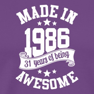 Made in 1986 awesome 30 years of being T-Shirt - Men's Premium T-Shirt