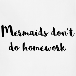 Mermaids Homework Funny Quote Aprons - Adjustable Apron