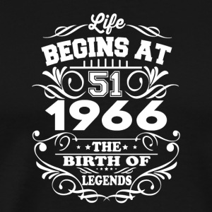 1966 The Birth Of Legends T-Shirt - Men's Premium T-Shirt