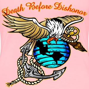 Badazz Eagle Death Before Dishonor  - Women's Premium T-Shirt